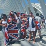 イギリスの応援隊