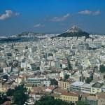 アテネの街並みを望む