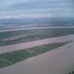 メコン川と田畑の境界が不明です