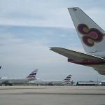 タイ航空でカンボジア到着です