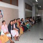 カンボジア国立母子センターの待合室