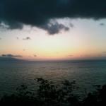 屋久島の夕昏