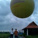 これから気球に乗ります
